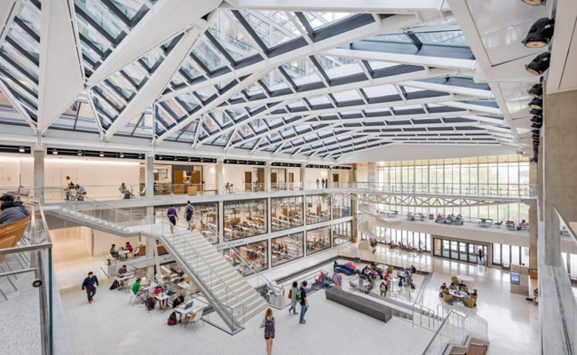 Giant Metal Lattice Fronts Atrium Of Texas Engineering School By Ennead